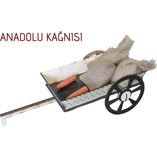Mavienerji Ahşap Anadolu Kağnısı Hediyelik 45 x 16 cm Dekorasyon