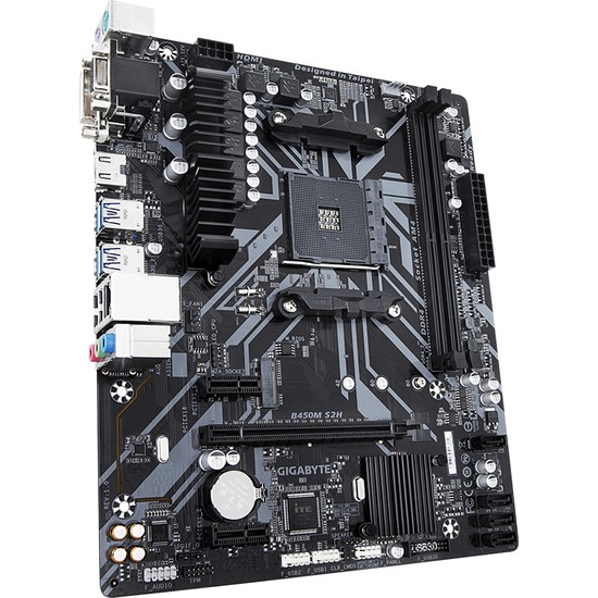Gigabyte B450M S2H AMD B450 3600MHz (OC) DDR4 Soket AM4 mATX Anakart