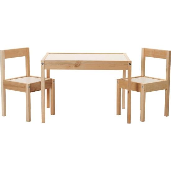 Ürün Şehri Ahşap Çocuk Oyun Çalışma Masa Sandalye Takımı