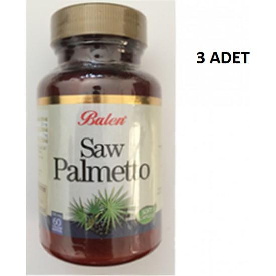 Balen Saw Palmetto Isırgan 60 Kapsül 3 Adet