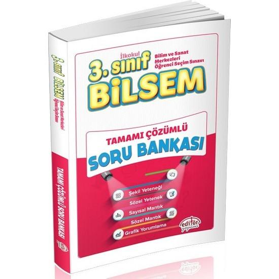 Editör Yayınları 3. Sınıf BİLSEM Tamamı Çözümlü Soru Bankası