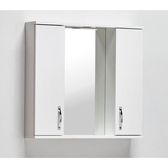 Hepsi Home Saydam Aynalı Üst Modül Mdf Banyo Dolabı 80 cm