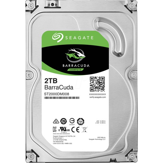 Seagate BarraCuda 2TB 7200RPM 256MB Sabit Disk ST2000DM008