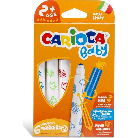 Carioca Jumbo Bebek Süper Yıkanabilir Keçeli Boya Kalemi 6'Lı +2 Yaş
