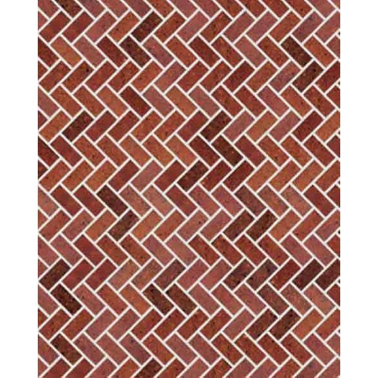 Eshel Maket Desenli Karton Duvar Kırmızı Zikzak 1/50 - 3'lü