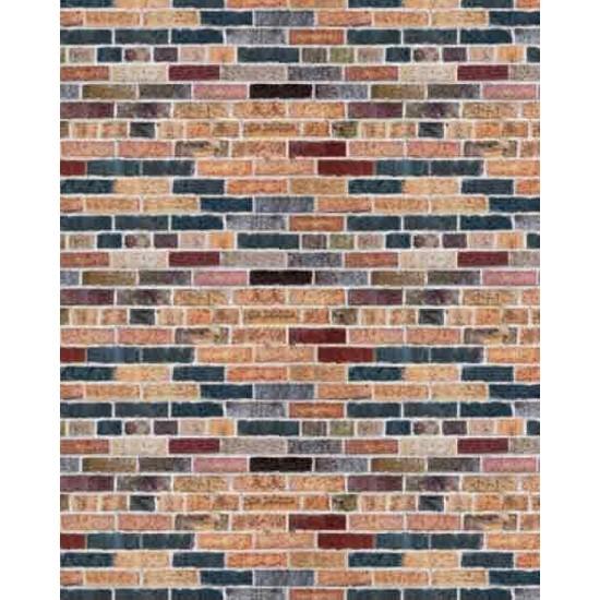 Eshel Maket Desenli Karton Duvar Renkli Tuğla 1/50 - 3'lü