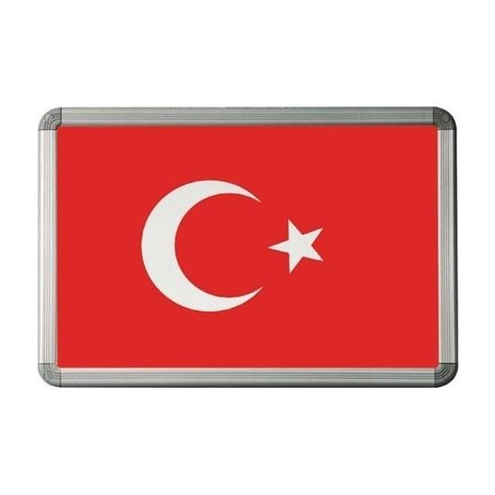 Meteor Türk Bayrağı 20X30 Alüminyum Çerçeve