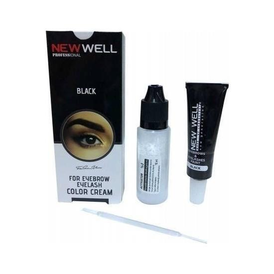 New Well Siyah Kaş Kirpik Boyası