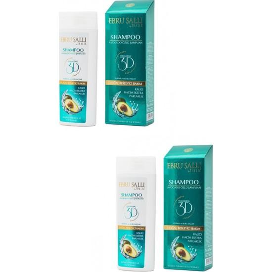 Ebru Şallı By Thalıa -Avokado Özlü Bakım Şampuanı 300 ml X2 - Normal Ve Kuru Saçlar