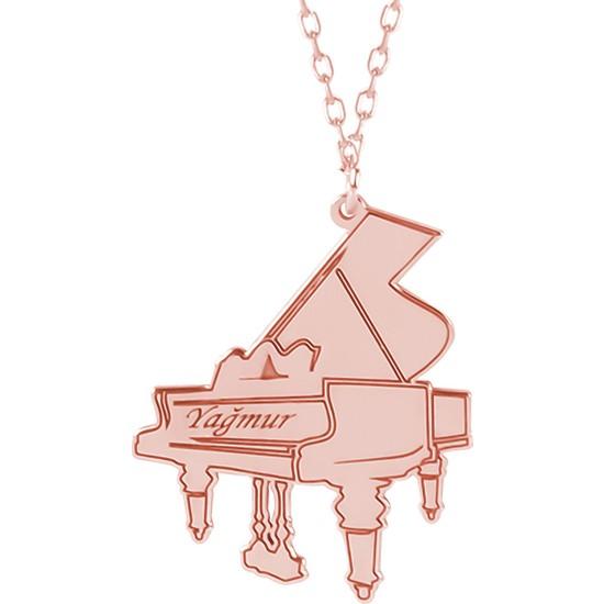 Glorria Kişiye Özel İsimli Piyano Gümüş Kolye Glr618-31481