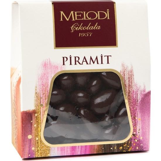 Melodi Çikolata Bitter Çikolatalı Badem Draje - 250gr