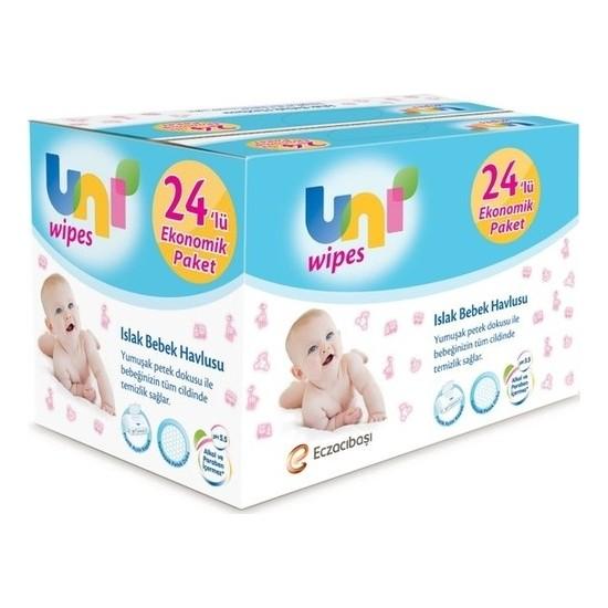 Uni Baby Wipes Islak Havlu 24'Lü Fırsat Paketi / 24*90