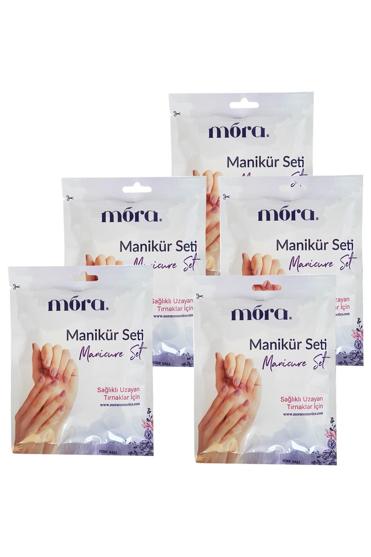Mora Keratin Therapy Cell Regenerator for Nails Extending Manicure Set 5Pcs