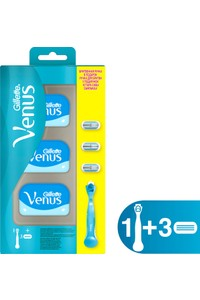 Gillette Venus Women Shaver and 3 Replacement Blades