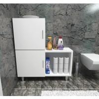 Moonlife 2 Kapaklı L Çok Amaçlı Banyo Dolabı Beyaz