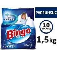 Bingo Parfümsüz Toz Çamaşır Deterjanı 1,5 Kg
