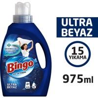 Bingo Ultra Beyaz Sıvı Çamaşır Deterjanı 975 ml