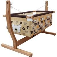 MakeArt Baby Anne Yanı Organik Ahşap Bebek Hamak Beşik 00117