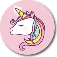 Cici Unicorn Sticker Etiket 3 x 3 cm 20li