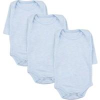 Nnk Uzun Kollu 3'Lü Çıtçıtlı Body Seti Mavi