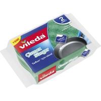 Vileda 2li Eko Paket Teflon Tavsiyeli Çizmez Oluklu Sünger