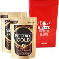Nescafe Gold Eko Paket 200gr x 2 ' li Nescafe Kutusu