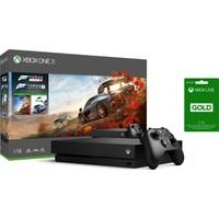 Microsoft Xbox One X 1 TB Forza Horizon 4 + Forza Horizon 7 Oyun Konsolu + 3 Aylık Live Card CYV-00057