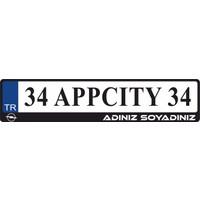 Appcity Kişiye Özel İsimli Opel Logolu Plakalık