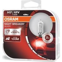 Osram H7 Night Breaker Silver +%100 12V 55W 2'Li Ampül Set