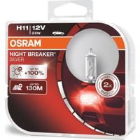 Osram H11 Night Breaker Silver +%100 12V 55W 2'Li Ampül Set