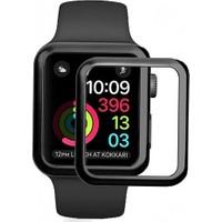 Eiroo Apple Watch 4 Curve Tempered Glass Premium Full Cam Ekran Koruyucu (44 mm)