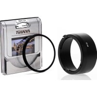 Tianya Canon Ef 50Mm F1.8 STM Lens için 49mm Slim Uv Filtre + Es-68 Bayonet Parasoley