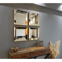 NEOstill -4'lü Dekoratif Duvar Salon Ofis Çerçeveli Ayna A403e