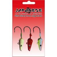 Japanese Ultra Sharp Hook Jigg Heads Üçlü Zoka Seti
