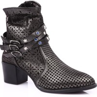 Mamma Mia D19Ya-4510 Kadın Günlük Ayakkabı Siyah Jale