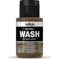 Vallejo 76514 Model Wash Dark Brown 35 Ml