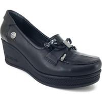 Mammamia 245 Günlük Kadın Ayakkabı Siyah Rugan