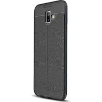 Caseup Samsung Galaxy J6 Plus Kılıf Niss Silikon Siyah + Nano Cam