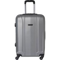 Travel Soft U Mkn 6112-B Gümüş Unisex Büyük Valiz