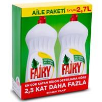 Fairy Sıvı Bulaşık Deterjanı Limon Fırsat Paketi 2700 ml ( 2 x 1350 ml)