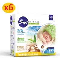 Sleepy Natural Yenidoğan Islak Pamuklu Bambu Havlu 6x(3x40) (720 Yaprak)