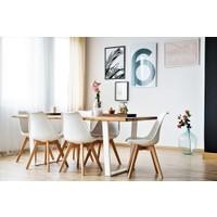 222 Concept Masif Ağaç Tik Renk 140x60x4 cm Yemek Masası