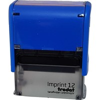 Trodat Imprint 12 Kişiye Özel Firma Ve Şirket Kaşeleri Baskı Rengi Mavi+ İsim Yazılı Kalem