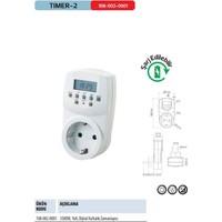 Horoz Timer-2 Dijital Ayar Zaman Saati Prizi Rolesi Haftalık 20 Programlı Açma-Kapama