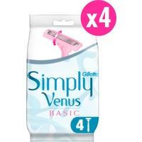 Gillette Simply Venus 3 Basic Tıraş Makinesi + 4'lü Yedek Tıraş Bıçağı