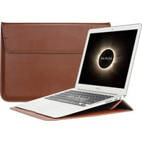 """Macstorey Apple Macbook 13"""" 13.3"""" Deri Kese Kılıf Laptop Çanta"""