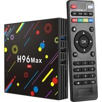 PaleTech H96 Max Plus Android 8.1 Tv Box 4 Gb Ram Bellek 64 Gb Rom Bellek Hafıza - Kodi