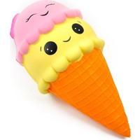 Squishy 15 cm Dondurma Gülen Yüz Kokulu Sık Bırak Oyuncak