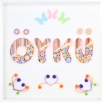 Renkli Hayallerim Pamuk Şeker Quilling Kağıt Telkari Duvar Süsü