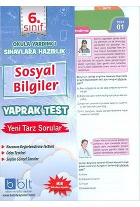 Bulut Eğitim 6. Sınıf Sosyal Bilgiler Çek Kopar Yaprak Test